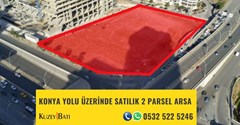 KONYA YOLU ÜZERİNDE SATILIK 2 PARSEL ARSA P78717