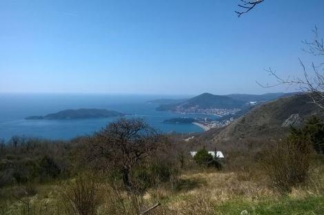 Budva Kuljace' de Deniz Manzaralı Satılık Arsa