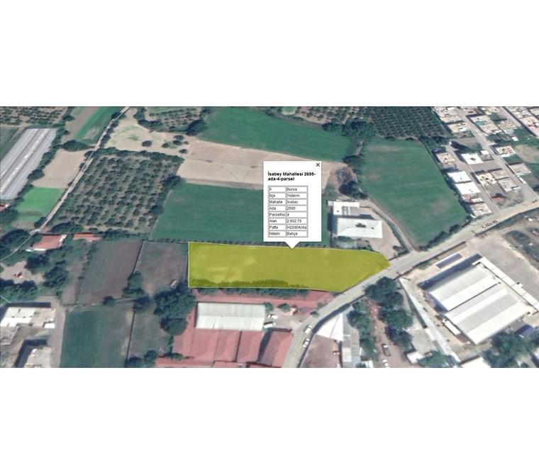 Yıldırım İsabey mah.Merkezinde İmarlı 1.900 m2 Net Satılık Arsa.