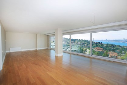 Roof Duplex with Magnificient Bosphorus View For Rent In Çengelkoy