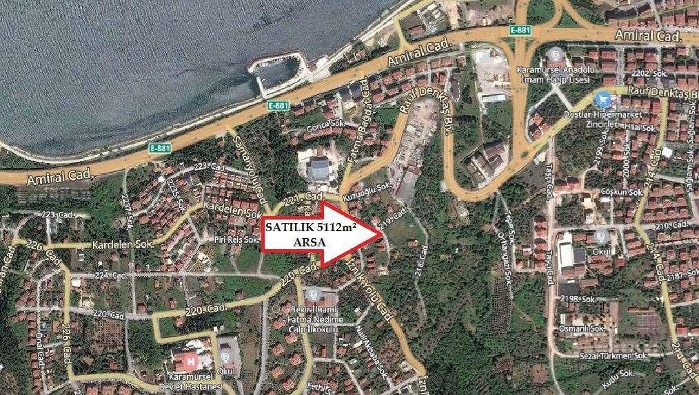 KARAMÜRSEL KAYACIKTA 5112m² İMARLI ARSA - 2