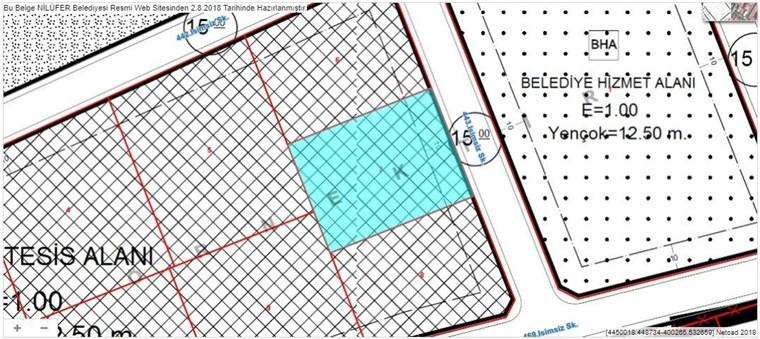 Nilüfer Kayapa Sanayisinde Satılık 2.060 m2 İmarlı Arsa.