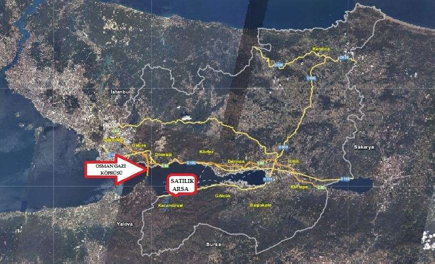 KARAMÜRSEL KAYACIKTA 5112m² İMARLI ARSA - 3