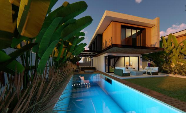 Çeşme Şifne Müstakil Havuzlu Lüks Modern Satılık Villa