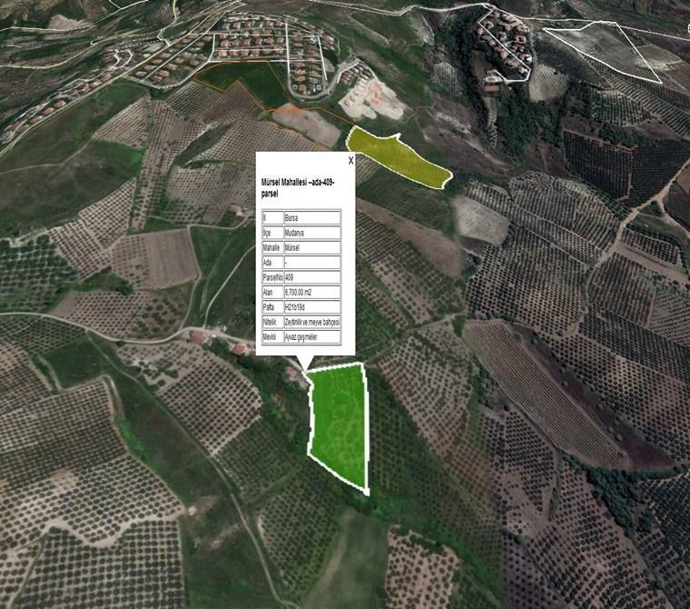 Mudanya Mürselde İmara yakın Yatırımlık Satılık 6.700 m2 Arazi.