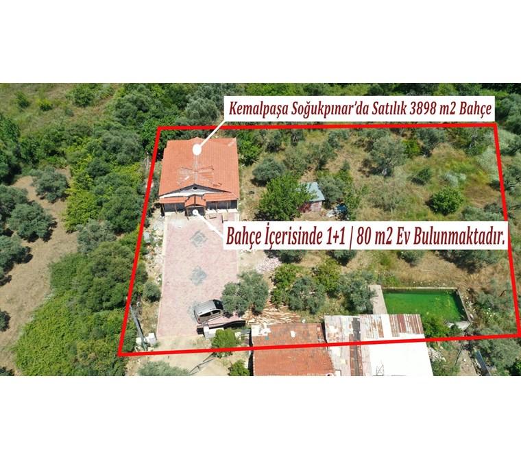 Kemalpaşa Merkeze Yakın Satılık 3898 m2 Bahçe İçerisinde Taş Ev