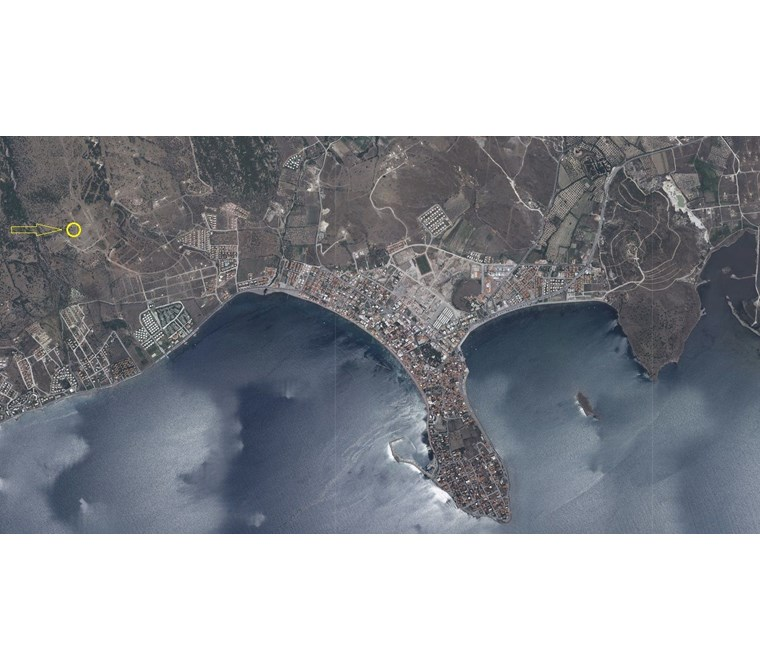 Acele Satılık Dikili Çandarlı'da Deniz manzaralı 420 m2 Arsa